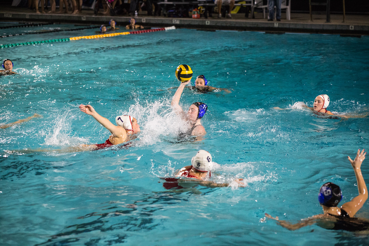 The girls' water polo team worked hard last year to have a good season, and they are sure to do the same thing this year.