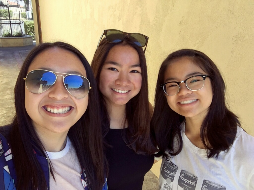 From left to right: Kaitlyn Wong, Elizabeth Nguyen, Nyssa Yota, the leaders of the Students Against Hunger club.