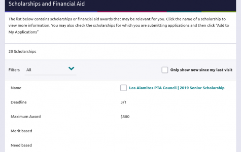 Naviance is a website that has links to scholarships students can apply for, including the PTA senior scholarship.