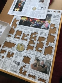 Puzzles can have images of any kind like, for example, a cover of a real newspaper! (Photo Courtesy of Adalie Landa)