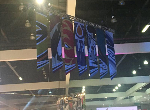 Pacific division banners at the 2017 NHL All-Star fan fair