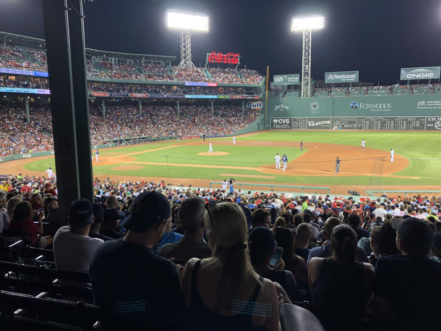 Fenway Park, July 28, 2018, Boston Red Sox vs Minnesota Twins.