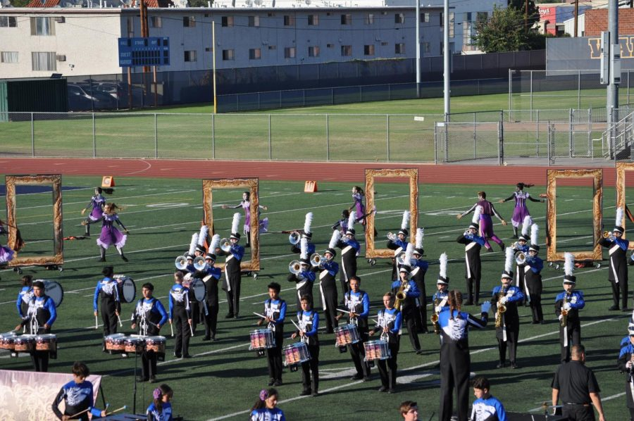 The+LAHS+Marching+Band+at+its+Recent+Competition.+