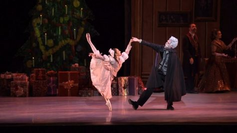 Clara dances with her godfather, Drosselmeyer, on Christmas Eve. (Photo Courtesy of Drew Roublick at Vimeo)