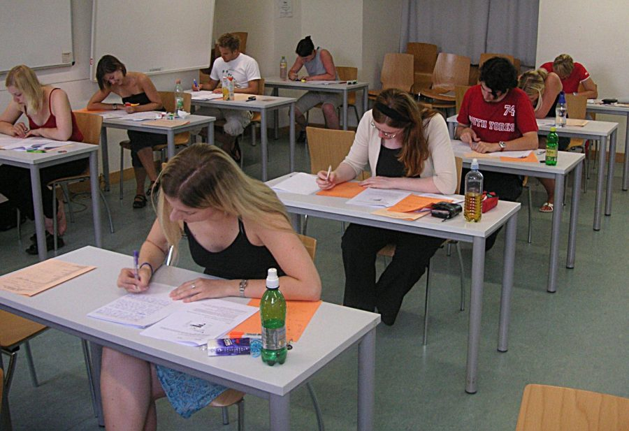 Credit to Wikimedia- students testing