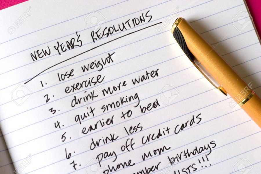 Writing New Year Resolutions allows you to keep track and organize your goals. (Photo Courtesy of 123RF)