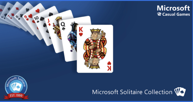 This is the loading screen of Microsoft's Solitaire Collection, a place where you can play all your favorite Solitaire games online. (Photo Courtesy of Megan Jun)
